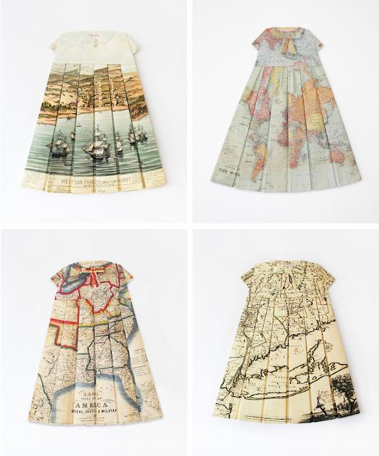 Great inspiration... Les Robes Géographiques