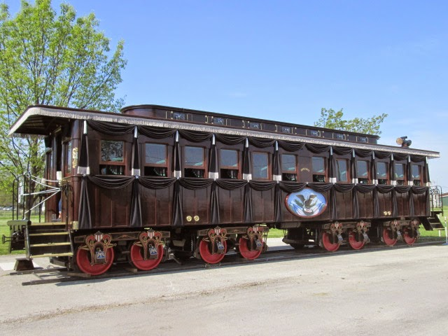 A Sentimental Life Lincoln Funeral Train Car Came To