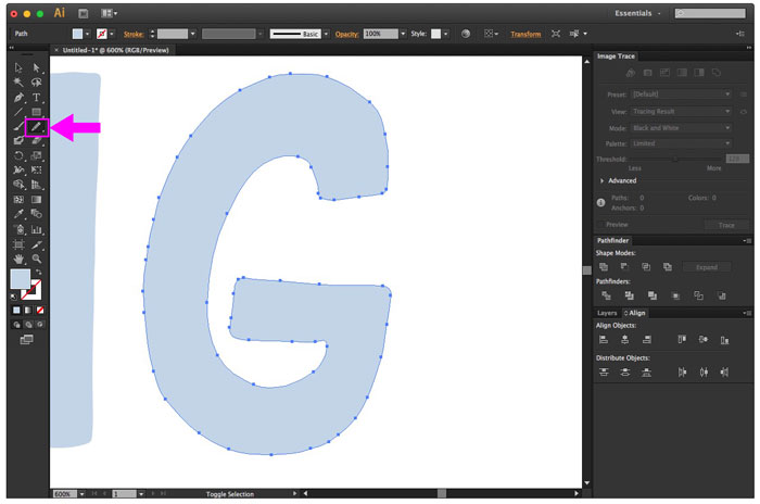smooth out your letters with a mouse or wacom tablet