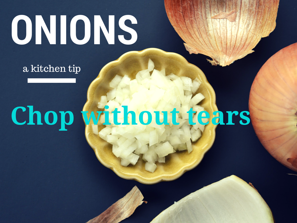 how to cut onions without tears