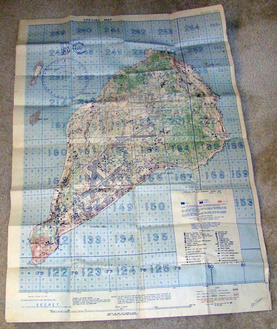 marines in forest green wwii iwo jima map official top secret - wwii iwo jima map official top secret