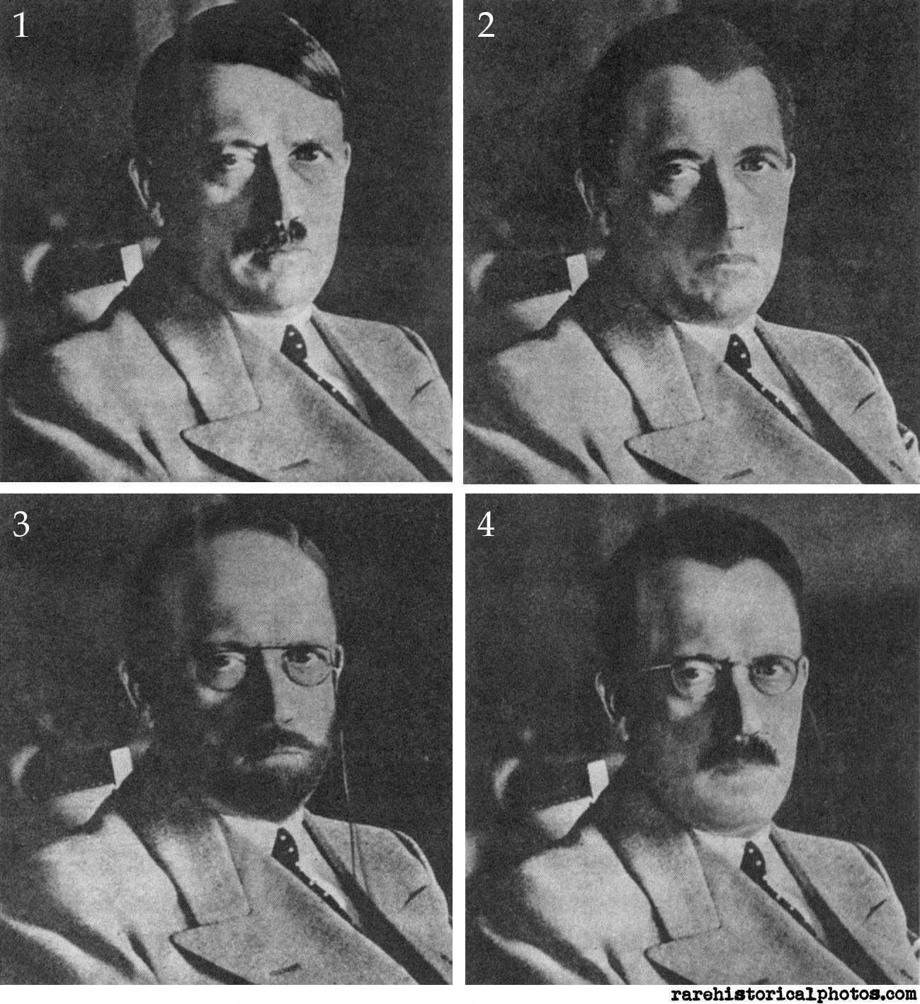 1-4 mockups of Hitler.