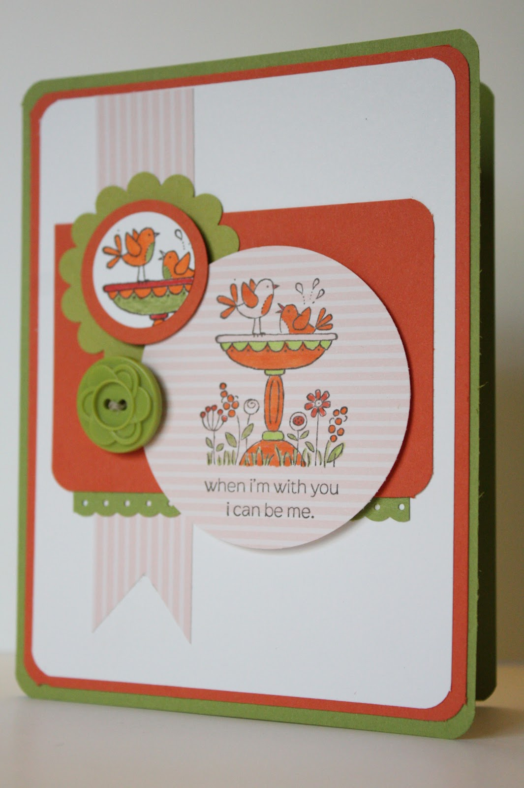 the pursuit of stampin ess for the birds friendship card by stampin