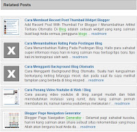 Widget Related Post Unik Dengan Summary (Deskripsi+Image)