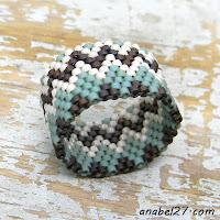 Кольцо из бисера с орнаментом - этника