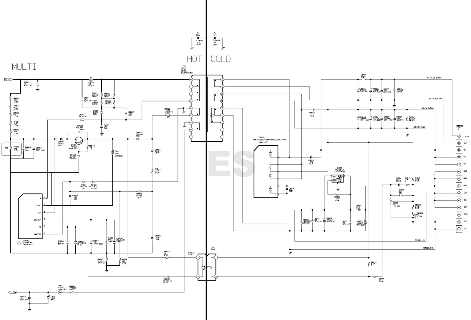 firmware samsung bn44 00622b power supply board schematic diagram viper12a str