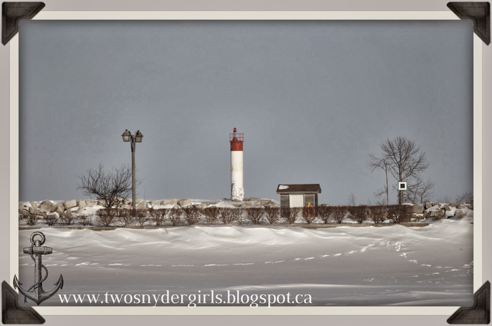 Meaford Ontario Harbour during Winter