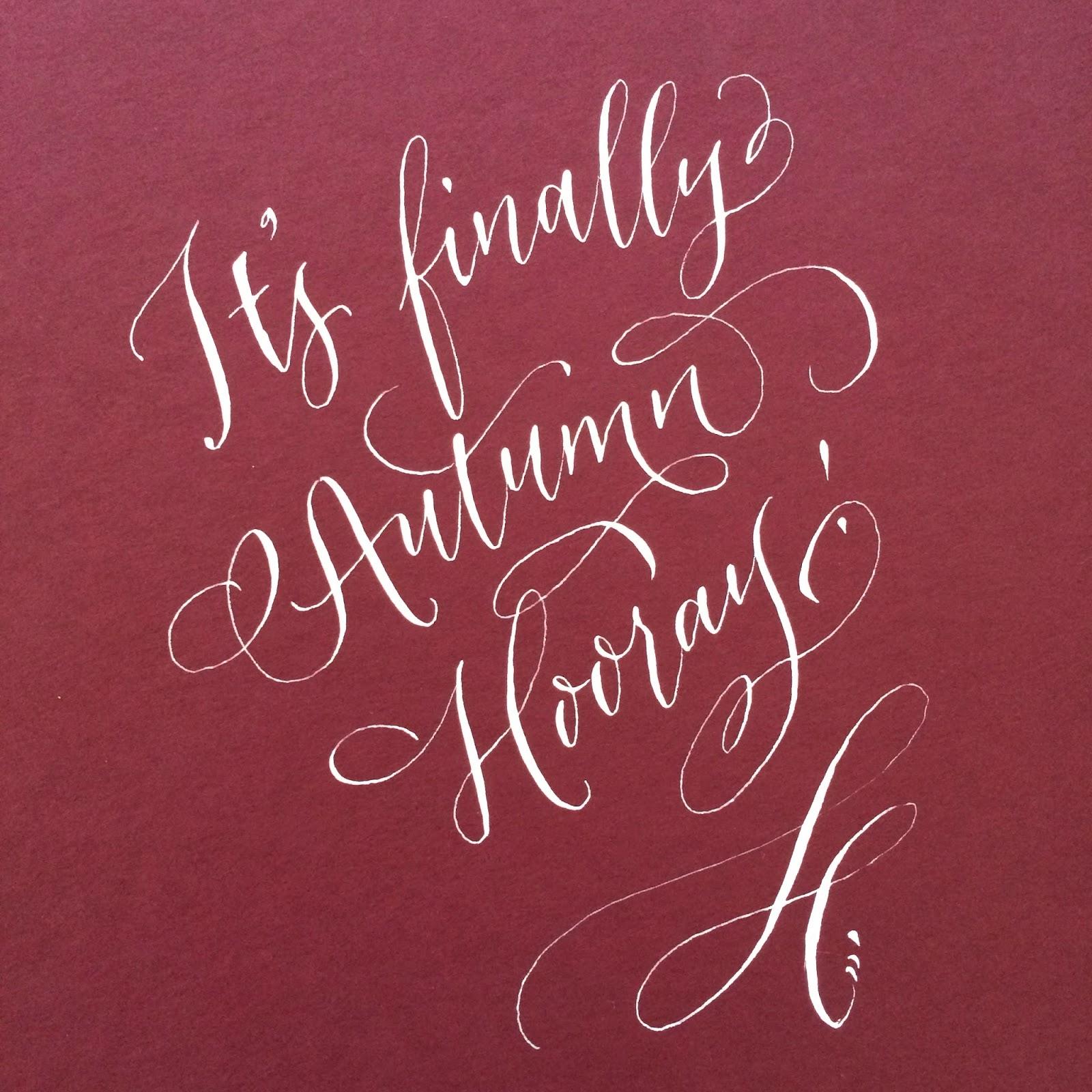 Antiquaria Calligraphy In Action It 39 S Autumn
