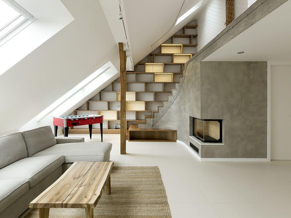 Loft a praga by a1architects arc art blog by daniele drigo for Piani di casa con due master suite al primo piano