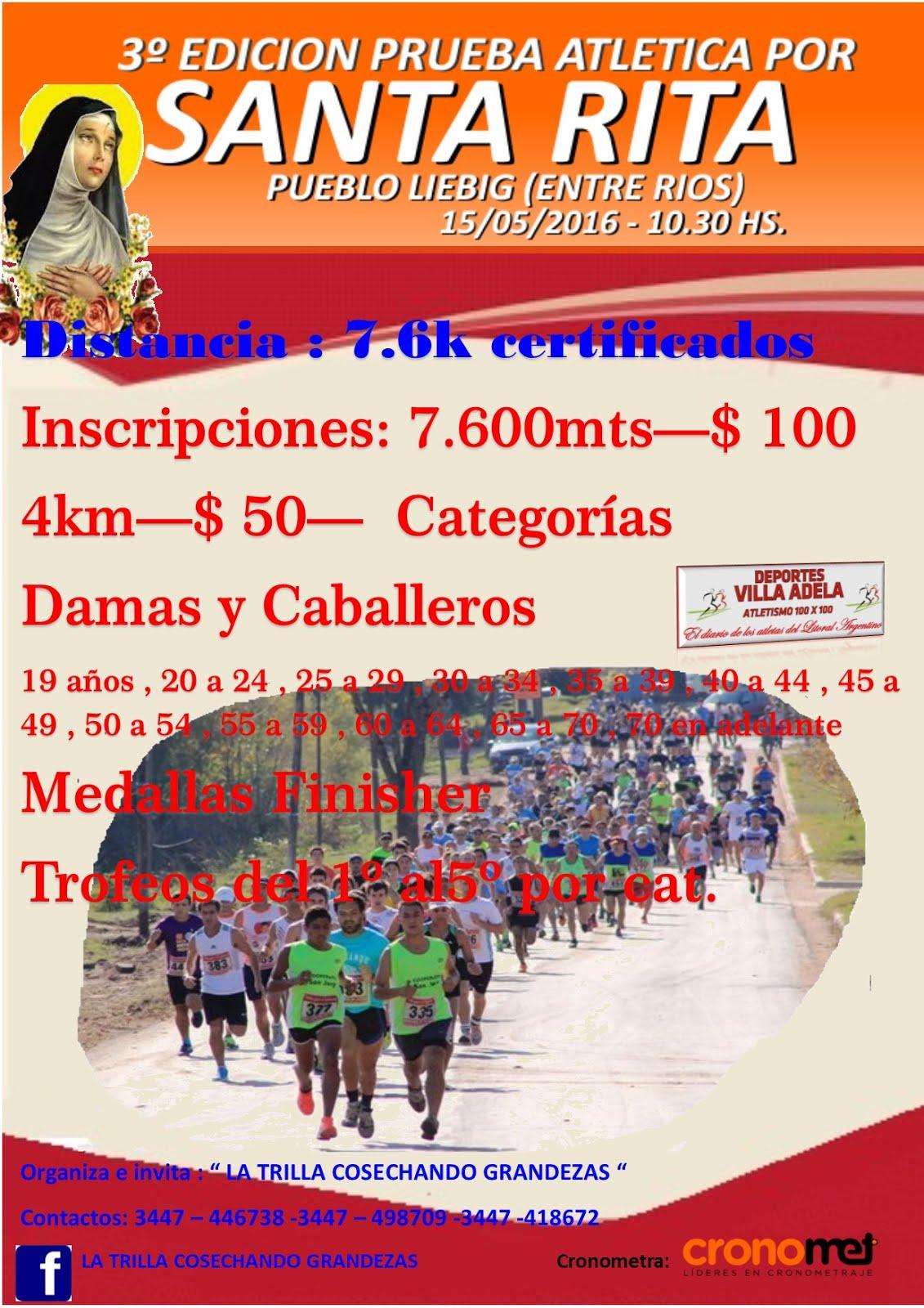 3º Edición Prueba Atlética por Santa Rita