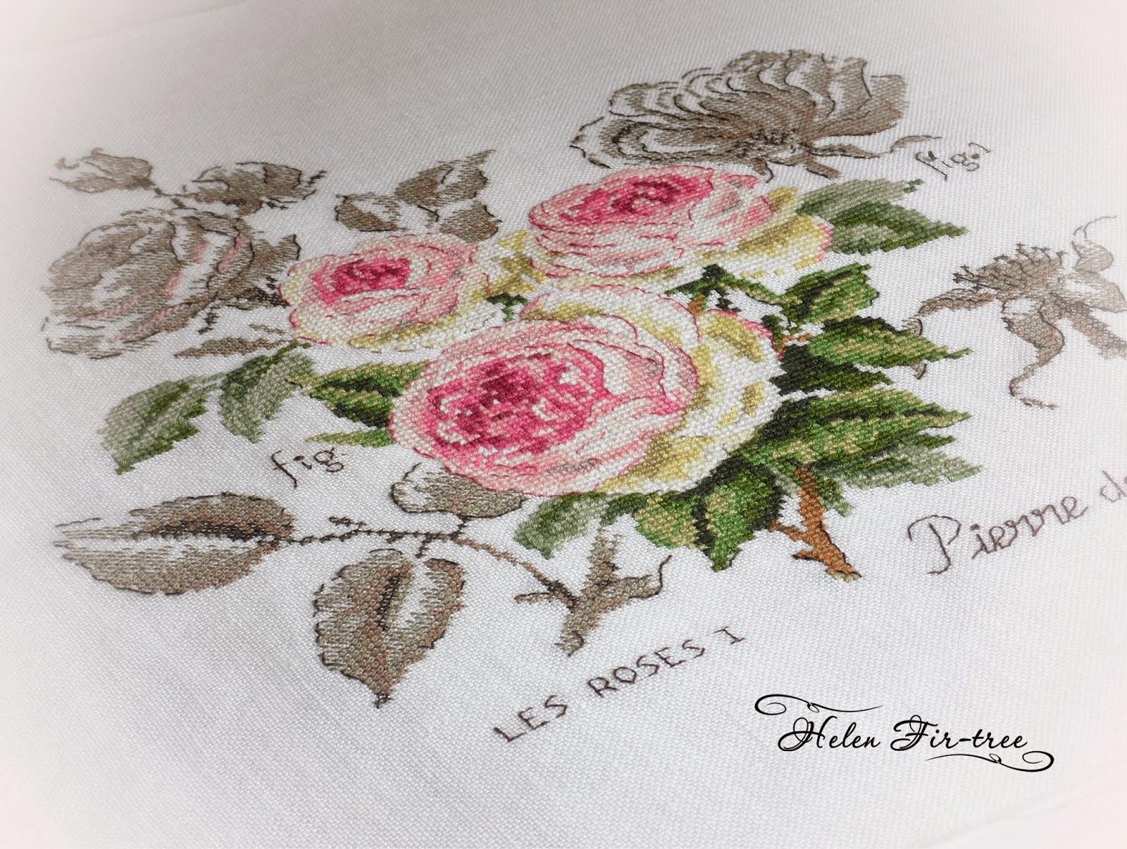 Вышивка чайные розы схема 76