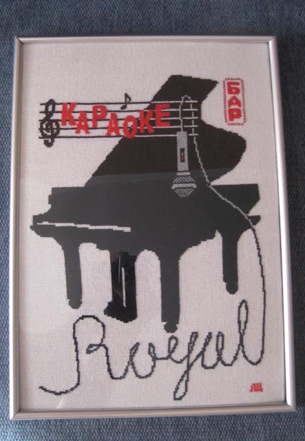 вышивка крестиком караоке рояль