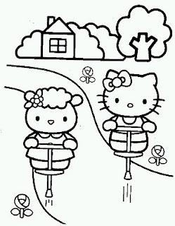 Dibujos de Hello Kitty para Pintar, parte 4