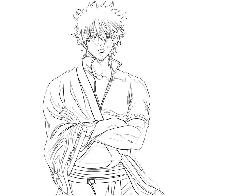 printable-sakata-gintoki-handsome_coloring-pages-1