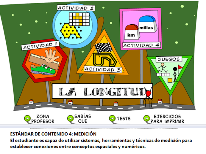 Actividades de aprendizaje virtual sobre la LONGITUD
