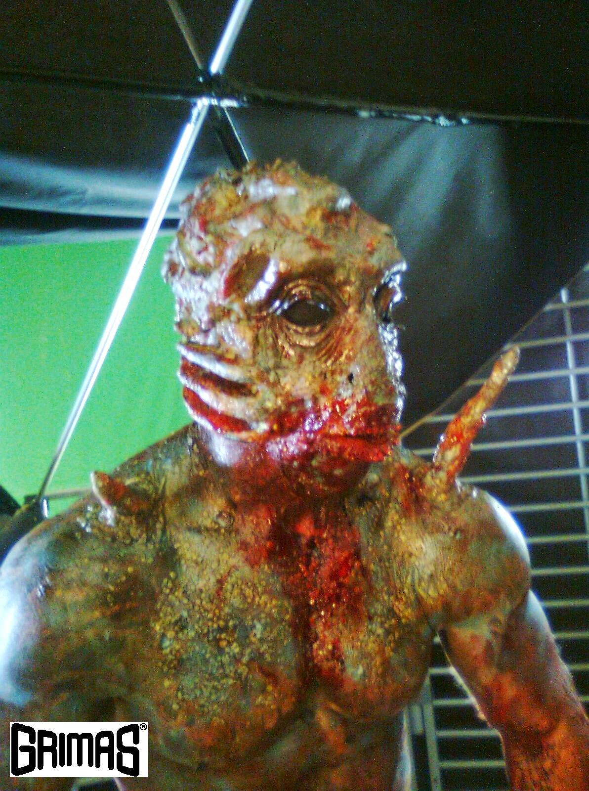 "Flipper creature from ""Champions of Space"" short film. Makeup FX: Ari Savonen."