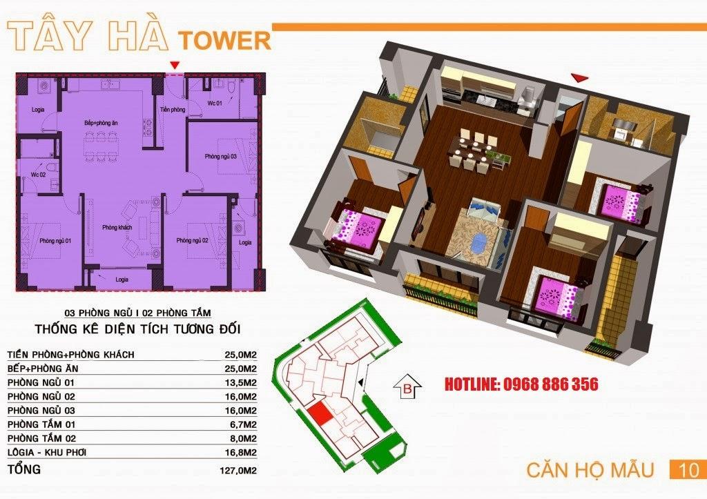 Căn hộ số 10 chung cư Tây Hà Tower