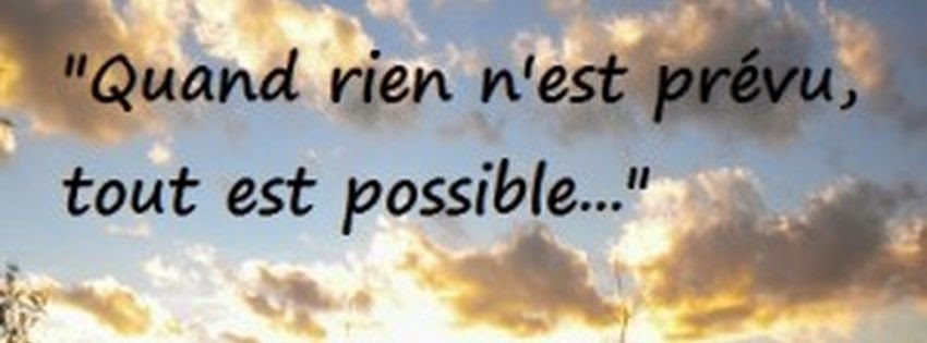 Une belle couverture facebook avec le mot possible
