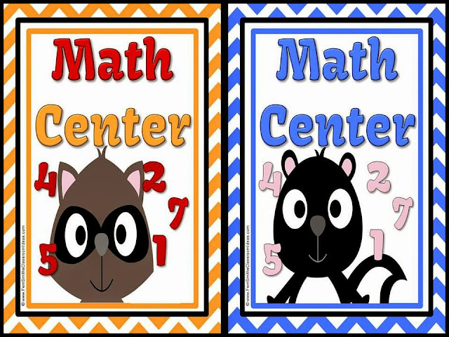 Picture of Fern Smith's Free Two Forest Friends Math Center Signs