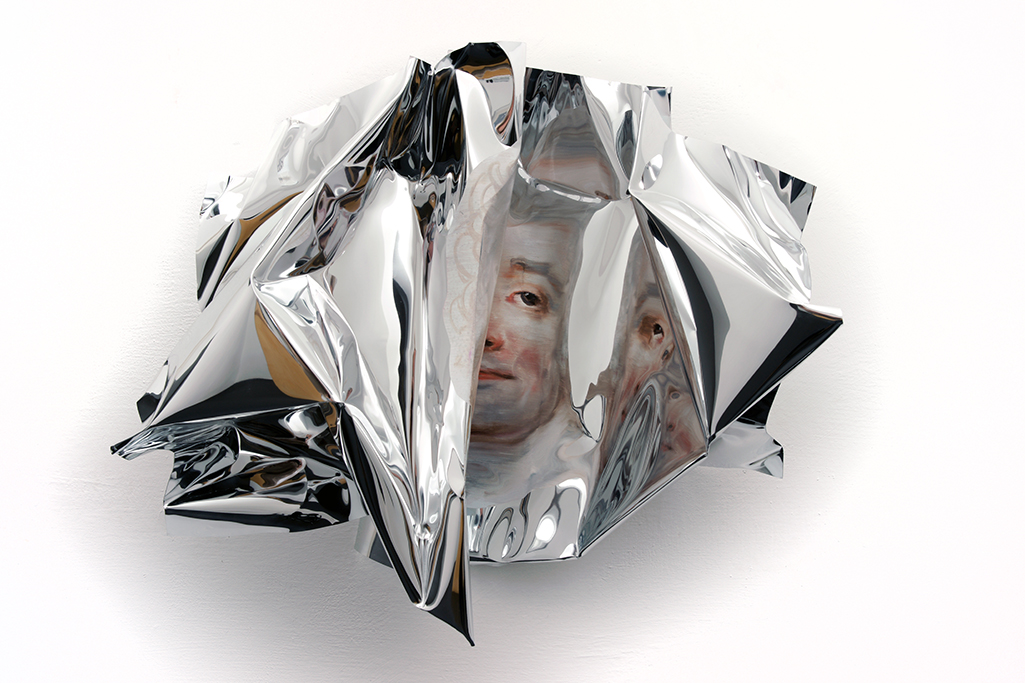 09-Martin-C-Herbst-Oil-Painting-on-Folded-Mirror-Polished-Aluminium-Foil-www-designstack-co