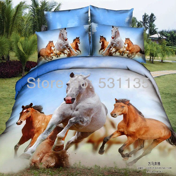 3D animals bed linens