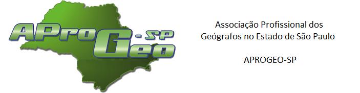 Associação Profissional dos Geógrafos no Estado de São Paulo   APROGEO-SP