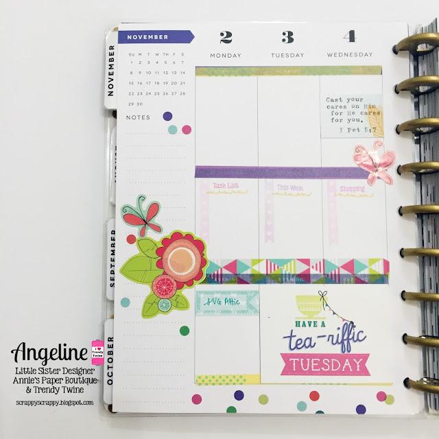 ScrappyScrappy: Happy planner layout - November #scrappyscrappy #trendytwine #stamp #planner #plannerstamp #happyplanner #washi
