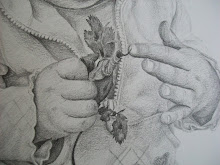 Close up of hands and leaves