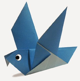 nghệ thuật gấp giấy Origami - Hình chú Chim Bồ Câu rất đơn giản và rất đẹp