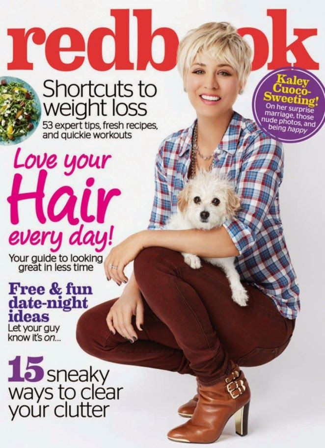 Kaley Cuoco covers Redbook Magazine February 2015
