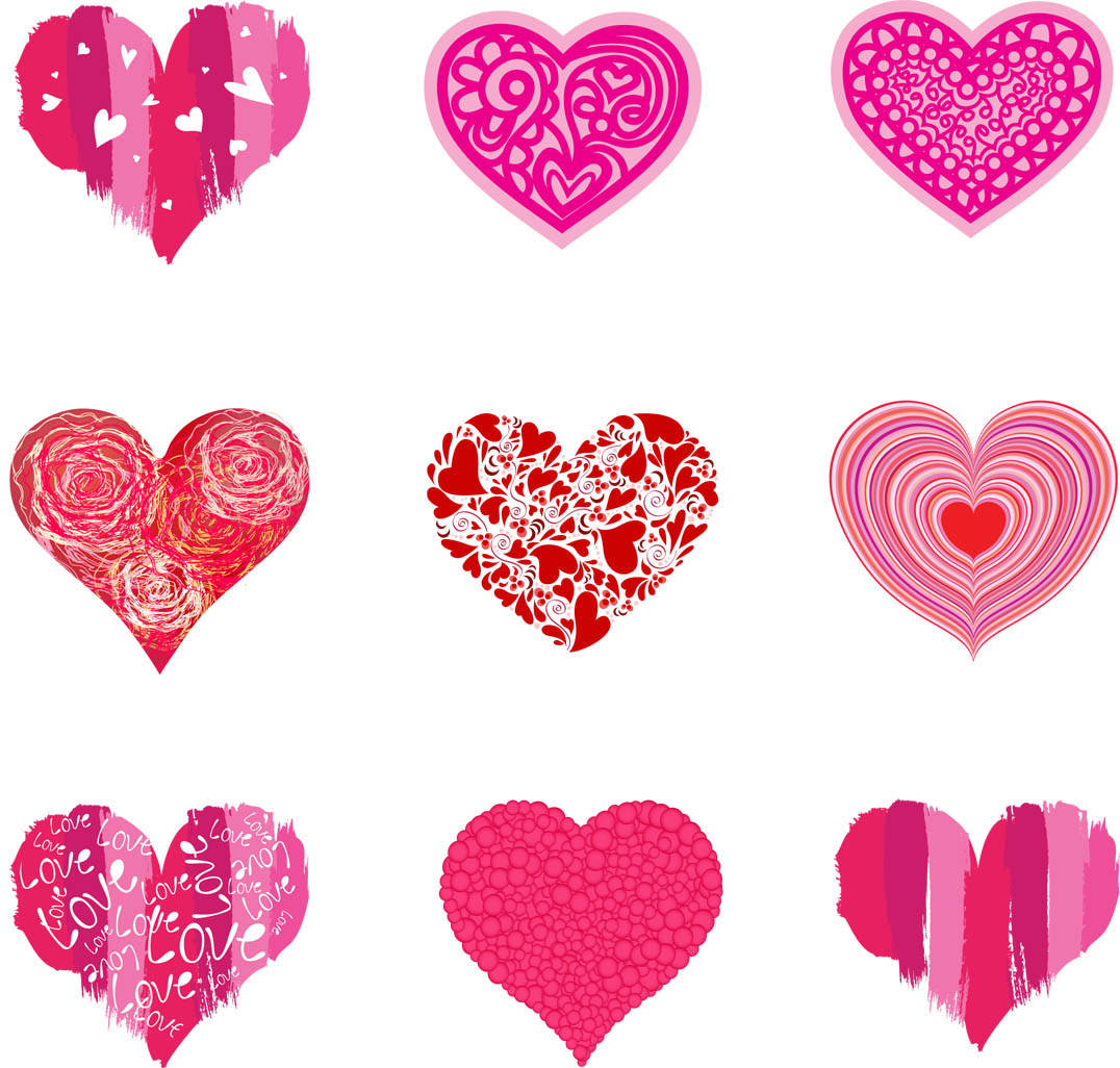 It is a graphic of Slobbery Valentines Day Hearts Printable