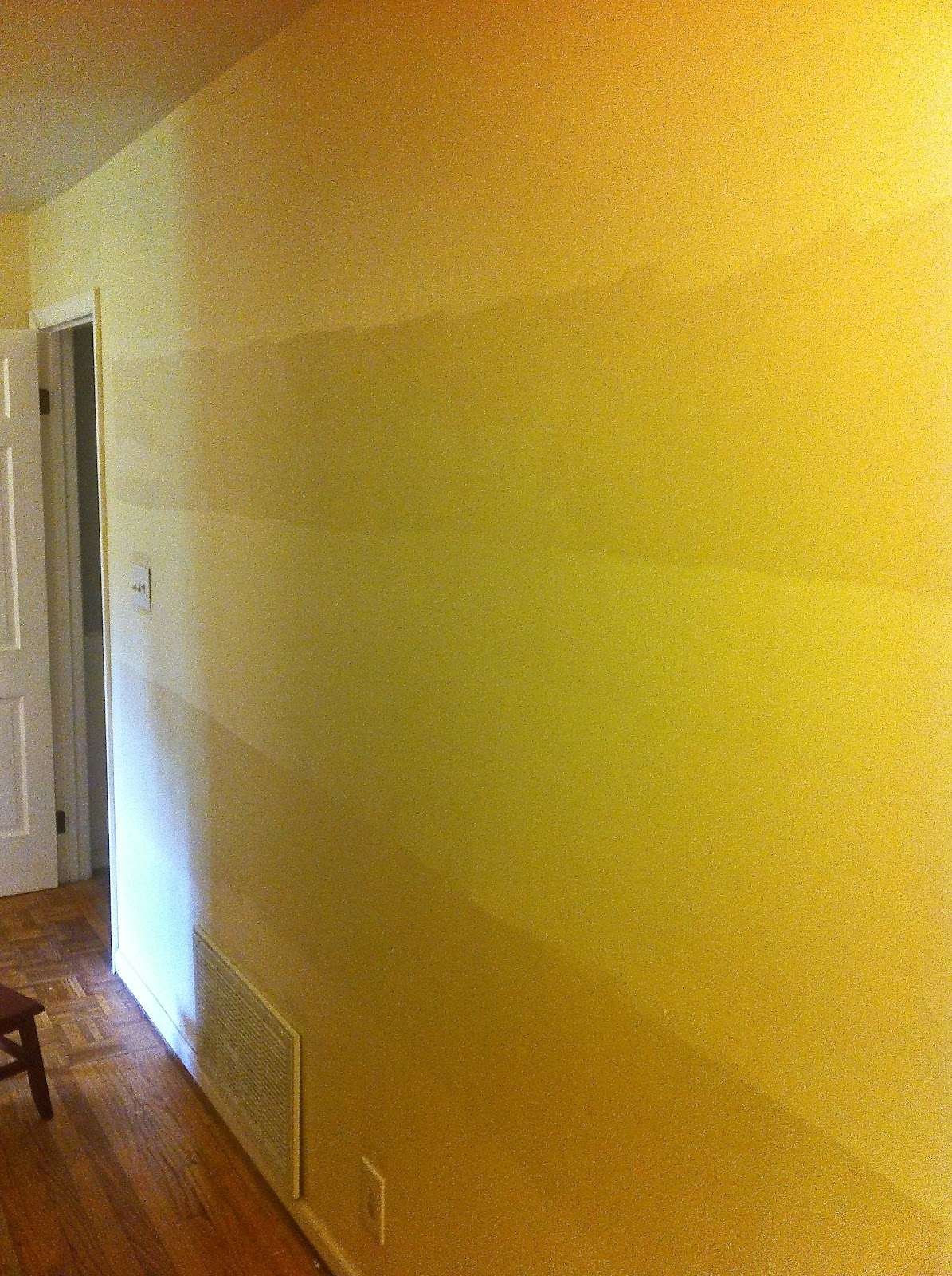 True North: horizontal stripe tone on tone (eggshell and gloss) paint