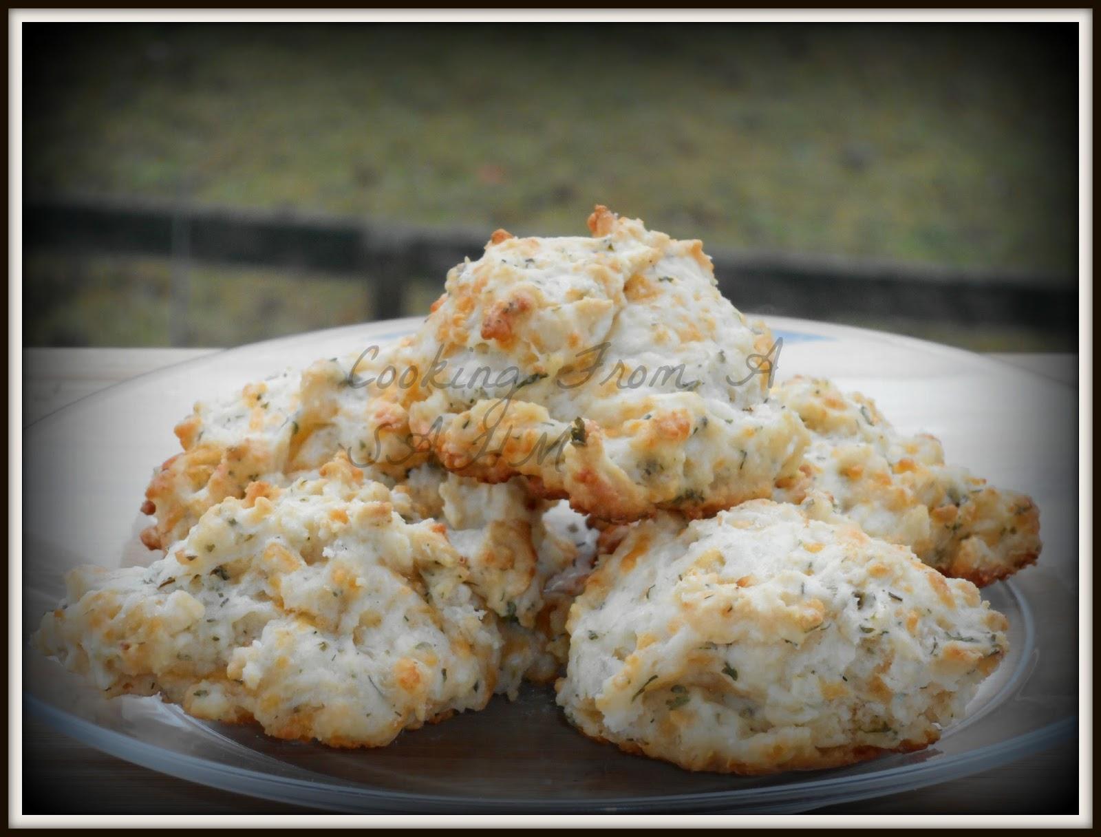 Cheddar Sour Cream Drop Biscuits