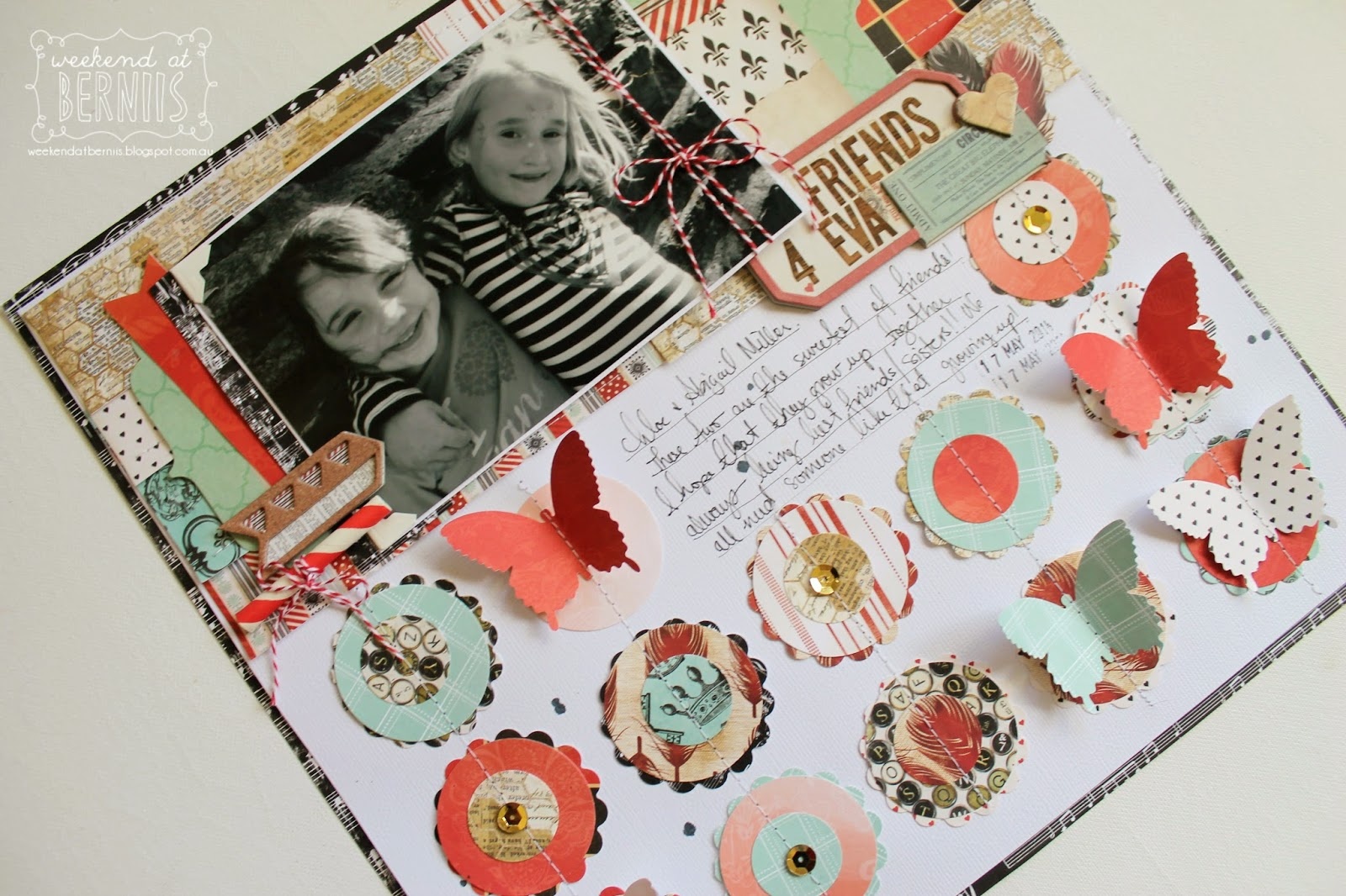 Friends 4 Eva layout by Bernii Miller for BoBunny using Star-crossed collection.