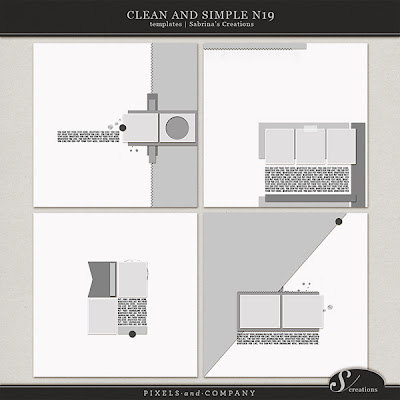 Cleand and Simple Nr. 19 - Template Set by Sabrina