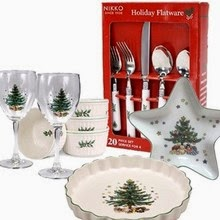 nikko christmas accessories tableware with both patterns using the same christmas tree image nikko created table accent pieces dcor and tableware that