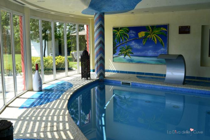 piscina interna di villa ori a padova