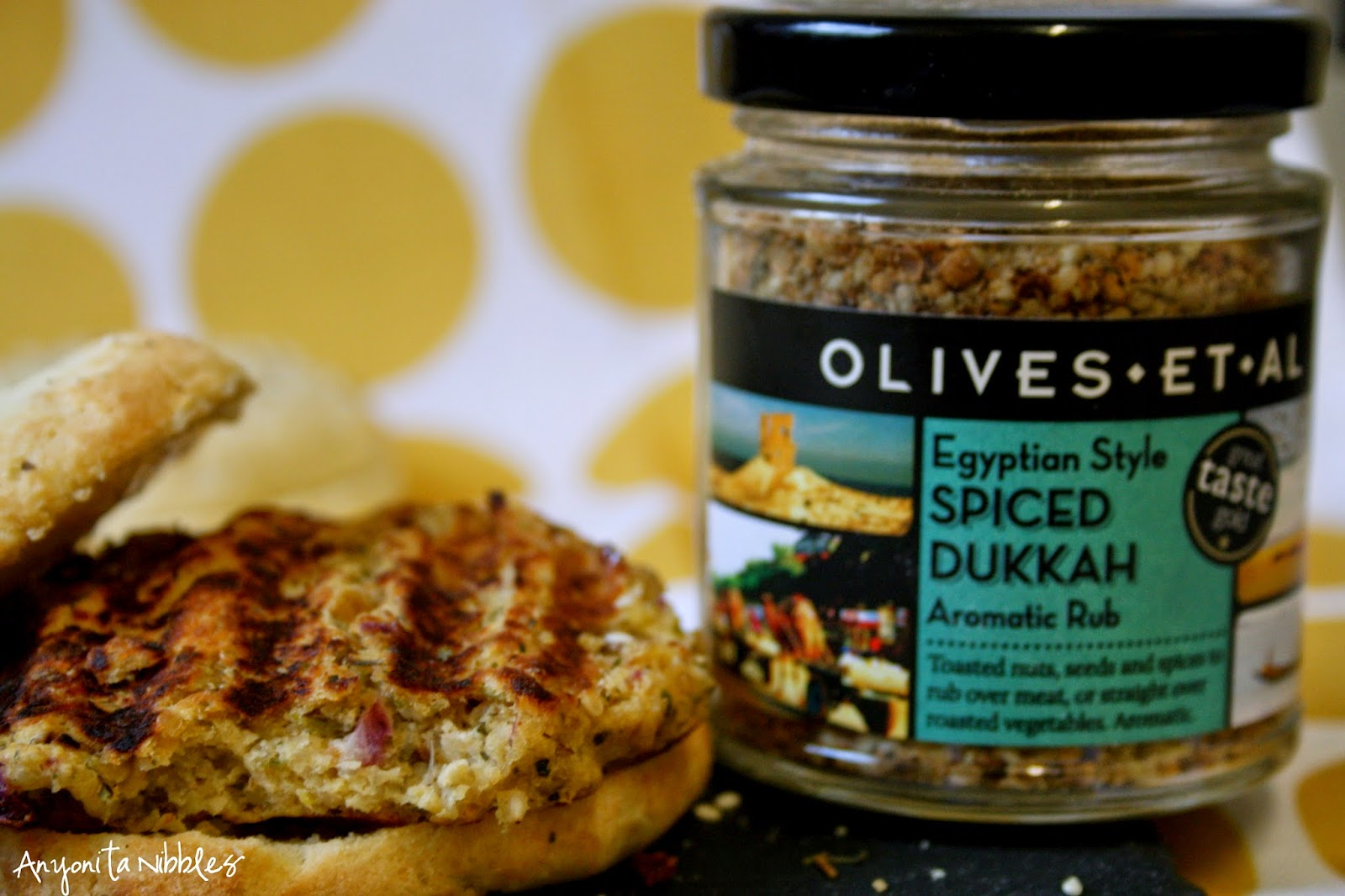 These chickpea and quinoa burgers are flavored with this Egpytian dukkah spice.