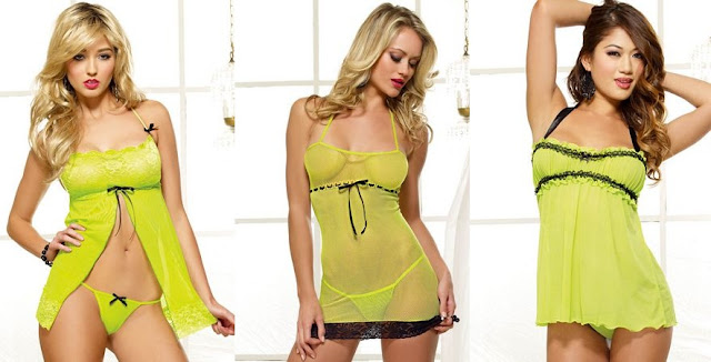 Neon Yellow Lingerie Sets - LingerieDiva.com