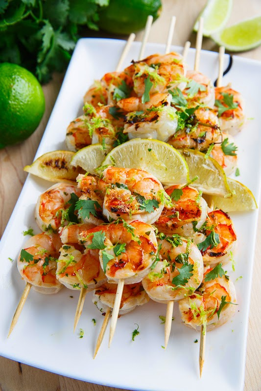 Cilantro Lime Grilled Shrimp on Closet Cooking