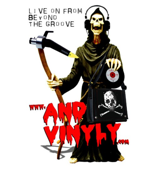 Grimm reaper with andvinyly.com and tag line