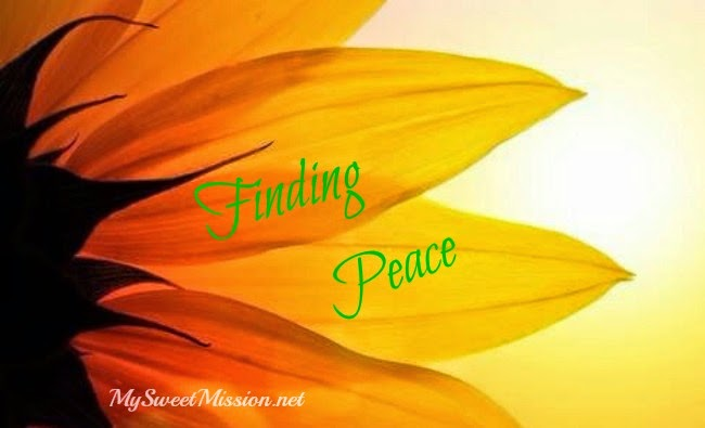Balance Your Life Week 2 - Finding Peace by MySweetMission.net