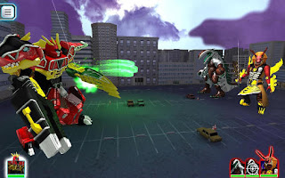Screenshots of the Power Rangers: Dino charge rumble for Android tablet, phone.