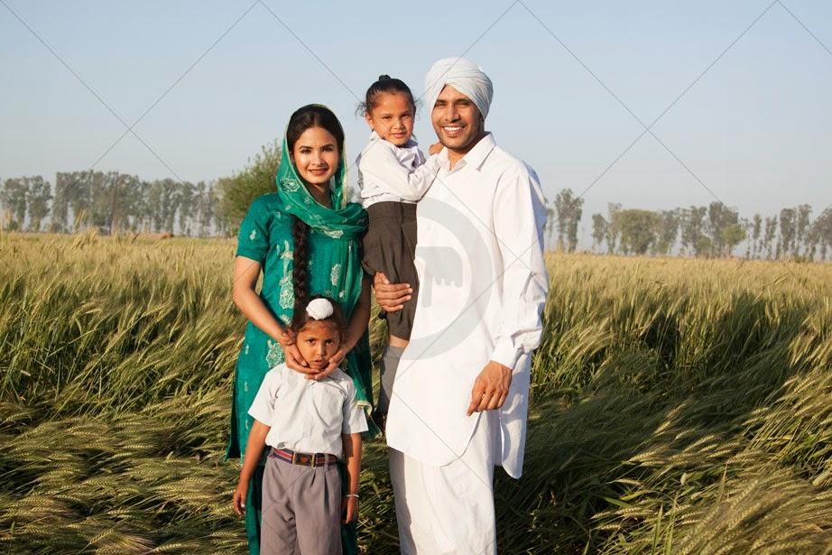 Ilustração:Típica família punjabi sikh
