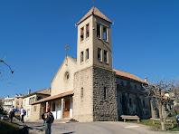 El campanar de l'església de l'Assumpció de Cal Marçal