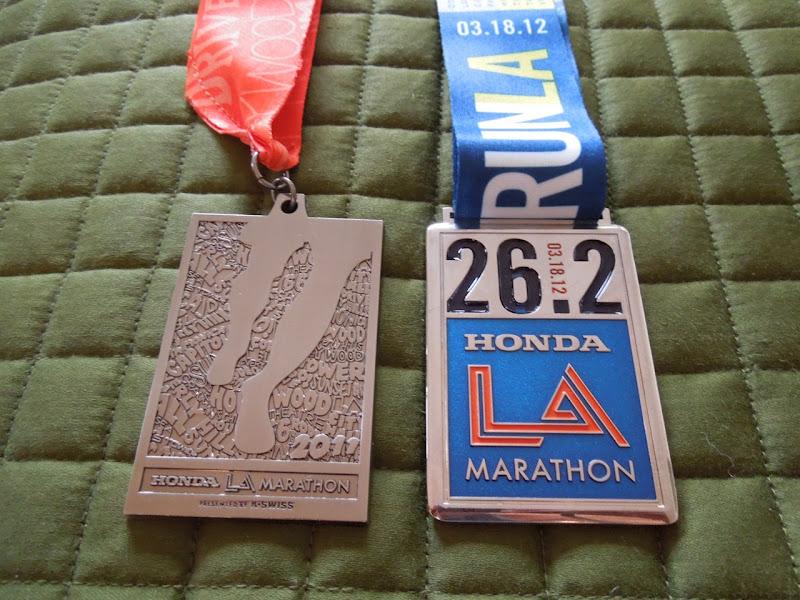 LA Marathon medals 2011 2012
