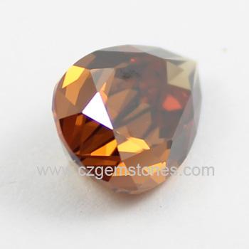cubic zirconia brown gemstones