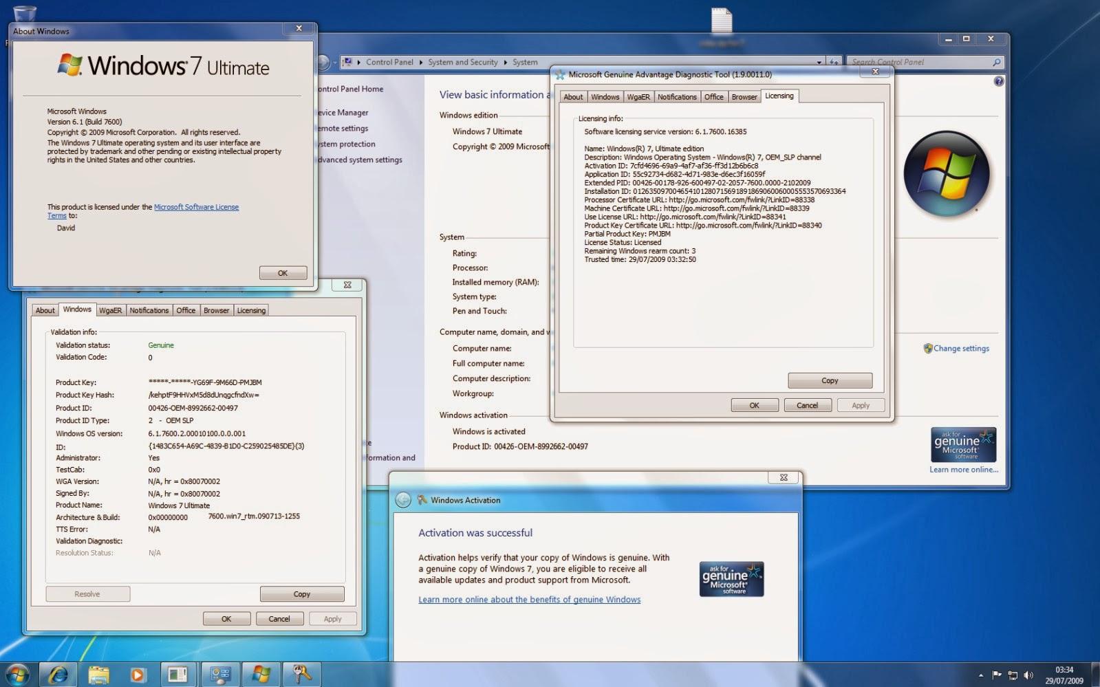 Windows 7 Ultimate SP1 2014