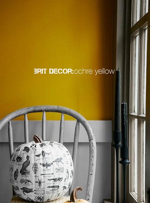 Great Brit Decor Ochre Yellow