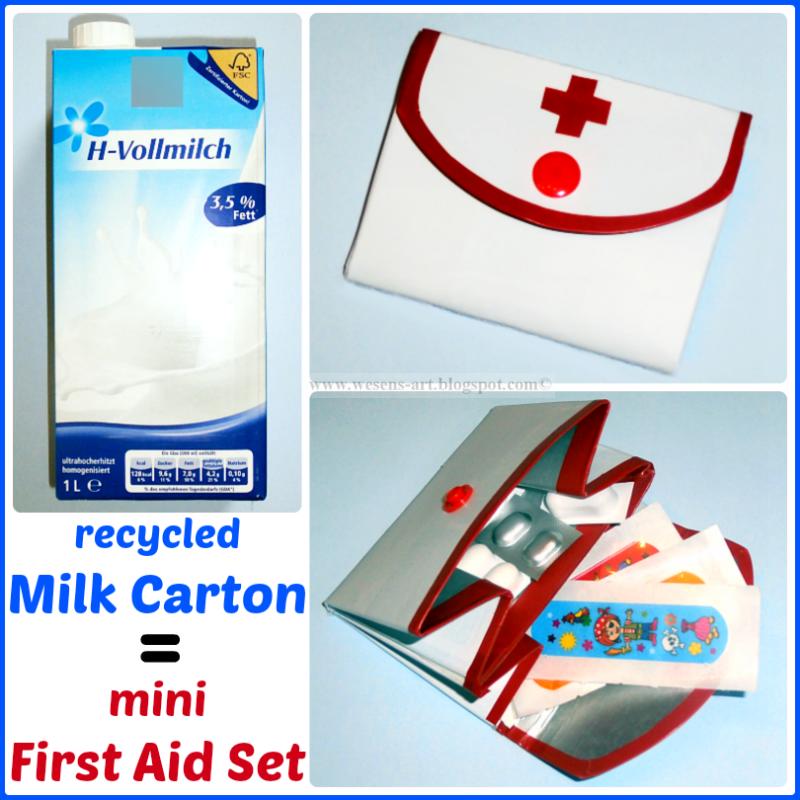 MilkCarton FirstAidSet wesens-art.blogspot.com